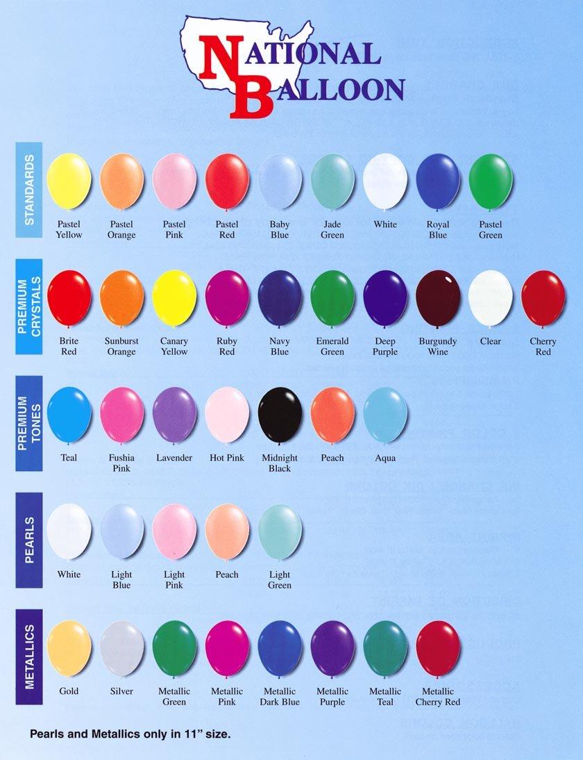 National Balloon Color Chart